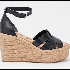 Sam Edelman Woven Leather Wedges Marietta SZ8.5